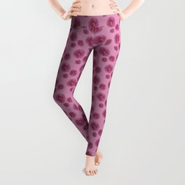 Pink flowers pattern Leggings