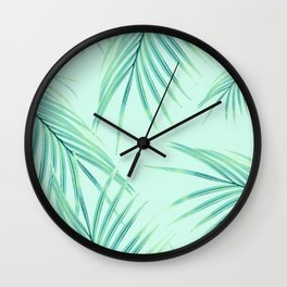 Summer Palm Leaves Dream #1 #tropical #decor #art #society6 Wall Clock