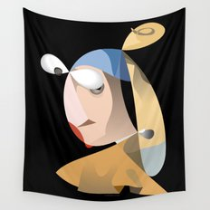 Girl with a Pearl Earring Wall Tapestry