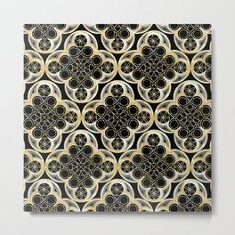 Golden Moroccan Tile Glam #1 #pattern #decor #art #society6 Metal Print
