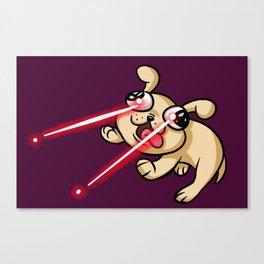 Laser Puppy Canvas Print