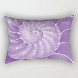 Ultra Violet Chambered Nautilus Rectangular Pillow