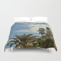 palms Duvet Covers featuring Palms by Magic Emilia
