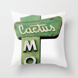 Cactus Motel Throw Pillow