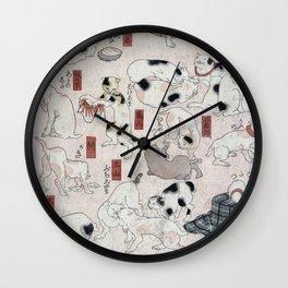 Cats for the 53 stations of the Tokaido - Utagawa Kuniyoshi, (1847) Wall Clock
