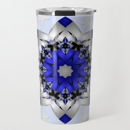 Magical snowflakes in blue, silver and grey Travel Mug
