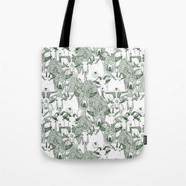 just goats dark green Tote Bag