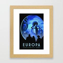 Europa Space Travel Retro Art Framed Art Print