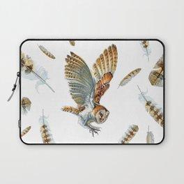 Barn Owl Landing  Laptop Sleeve