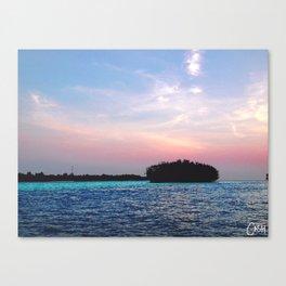 Island in a not-Sun Canvas Print