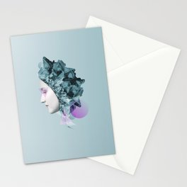 Faces Blue 01 Stationery Cards
