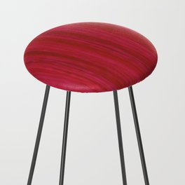 Strawberry Colored Vertical Stripes Counter Stool