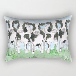 A Field of Cows Rectangular Pillow