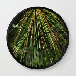 Sappy Multicolor Pine Needles Wall Clock