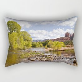 Oak Creek and the Cathedral Rocks Rectangular Pillow