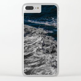 Snow Day - Sea foam on water in San Francisco Clear iPhone Case