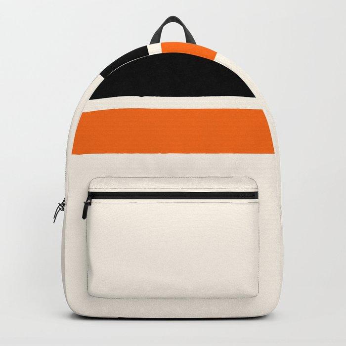 2 Stripes Black Orange Backpack