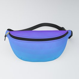 Blue and Purple Ombre - Flipped Fanny Pack