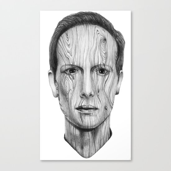 Wood Man Canvas Print