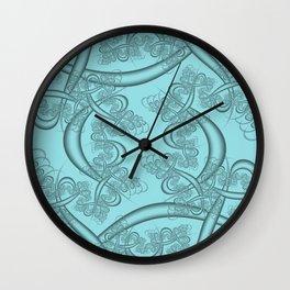 Island Paradise Fractal Wall Clock