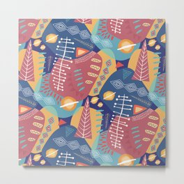 Tribal Tapestries- Symbols Metal Print