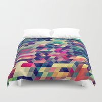 wallpaper Duvet Covers featuring Atym by Spires
