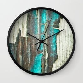 Weathered and Worn Wall Clock