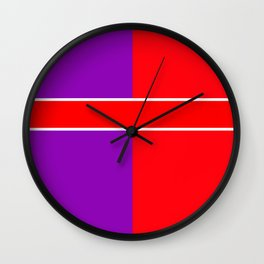 Team Color 6...red,purple Wall Clock