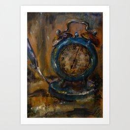 Magical Clock Art Print