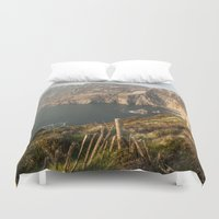 league Duvet Covers featuring Slieve League by Marie Carr