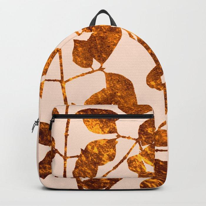 fall golden leaves Backpack