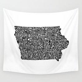 Typographic Iowa Wall Tapestry