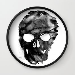 White skull Wall Clock