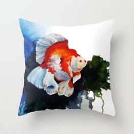 Ryukin Goldfish Throw Pillow