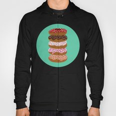 Stacked Donuts on Mint Hoody