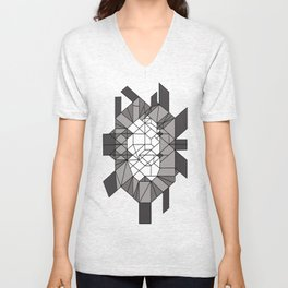 Dark matter: sculptural template (jon nobile) middle section Unisex V-Neck