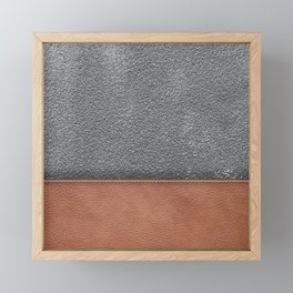 concrete and leather  Framed Mini Art Print