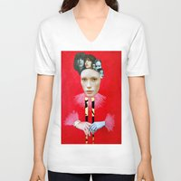 baroque V-neck T-shirts featuring Baroque by Mimi Rico