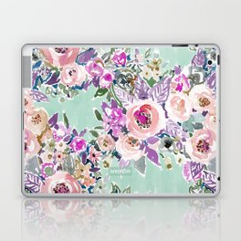 Mint SO LUSCIOUS Painterly Floral Laptop & iPad Skin