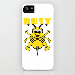 Busy bee This cute and adorable design will be a great reward for yourself and gift for your family! iPhone Case