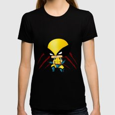 Chibi Wolverine SMALL Black Womens Fitted Tee