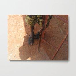 Precious Feet Metal Print