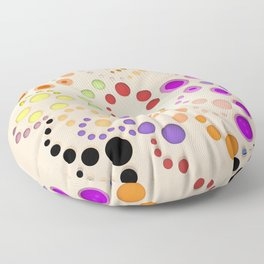 Abstract Composition 629 Floor Pillow
