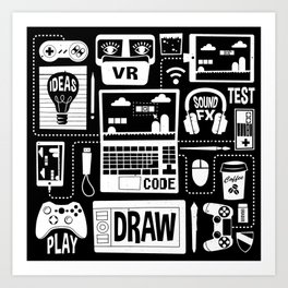 It's a Game Dev World Art Print