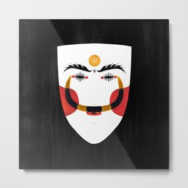 Greek Traditional Mask - Genitsaros Metal Print