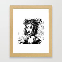 Witch Demoness Framed Art Print