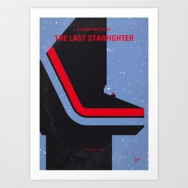 No999 My The Last Starfighter minimal movie poster Art Print
