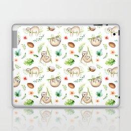 Tropical Sloths Pattern Laptop & iPad Skin