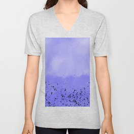 Abstract speckled background - purple Unisex V-Neck