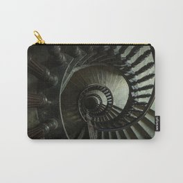 Brown wooden spiral staircase Carry-All Pouch